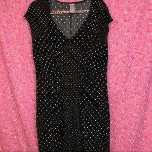 Avon XL Black and White Polka Dot Dress